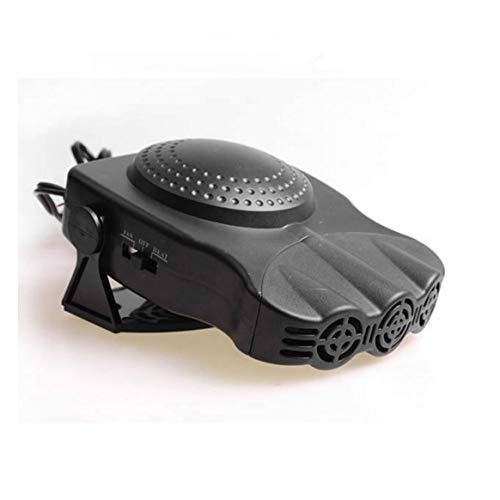 Delicacydex 12V 150W Ventilateur de véhicule de Voiture Chaud Chaud Chauffage Pare-Brise désembuage dégivreur 2 en 1 Portable Auto Car Van Heater - Noir