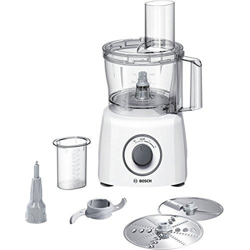 Bosch MCM3110W - Robot de cocina (2,3 L, Blanco, Giratorio, De plástico, Acero inoxidable, 800 W)