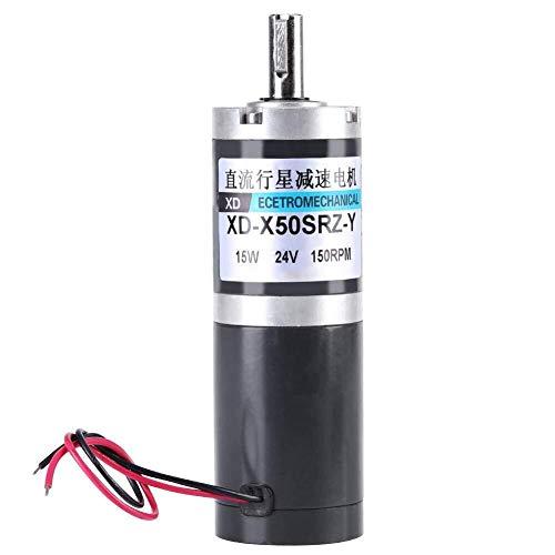IREANJ Reducción del Motor Engranaje de la CC de Velocidad y par Alto 50 mm Diámetro DC planetario engranado Planet Gear Motor 12V 24V (24V, 150 RPM) Motor