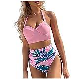 VODMXYGG Bikini de Moda con impresión de Hojas Mujeres Mujer Brasileños Bikinis 0916601