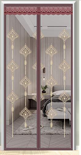 Xervg Balkontür Wunderschön Besticktes Sommerhaus mit Vorhang-Bequem_170 * 220 cm