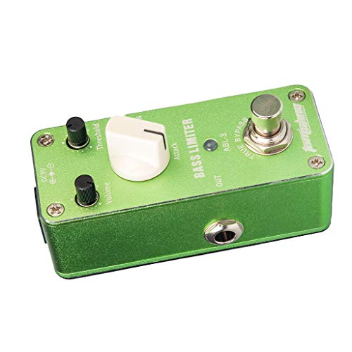 kesoto Bass Limiter Guitar Bass Effects Pedal Reduce Redundant dynamic Balance Output Attack Volume Threshold Knob