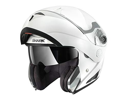 Shark Openline - Casco modular, talla L, color blanco