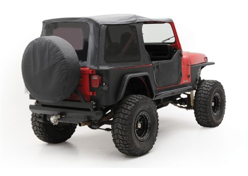 Smittybilt 9870215 Denim Black OEM Replacement Soft Top with Door Skins and Tinted Windows