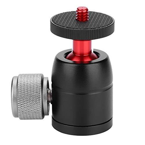 Tosuny Mini balhoofd draaibaar 360 graden aluminium statiefkop met quick release plaat 1/4 inch schroef voor DSLR camera statief