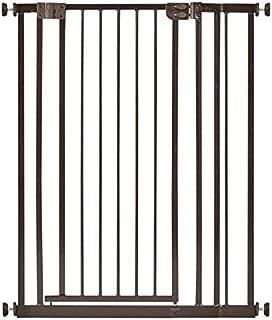 セーフティペットゲート ハイ ドア付き つっぱり式 オートクローズ 高さ100cm ペット用品 犬 ドア・ゲート バリア・ゲート 日本育児 (ブラウン)