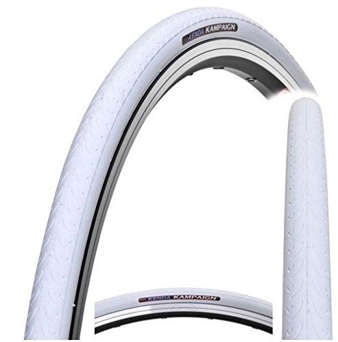 Kenda Kampaign K177Fahrradreifen 700x 23C, für Ein-Gang-Räder, Rennräder, Fixie-Räder und Trekking-Räder, Kampaign, weiß, 700 x 23c