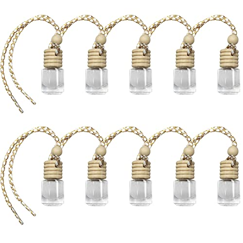 10pcs Aromatherapy Car Diffuser Necklace Car Vehicle Air Freshener Essential Diffuser Oil Fragrance Aromatherapy Bottle