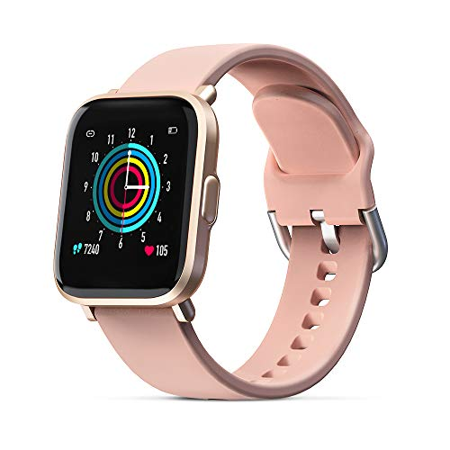 BYTTRON Smartwatch, Reloj Inteligente Impermeable IP68 Mujer con Monitor de Sueño, Pulsómetro, Cronómetros, Calorías, Podómetro Pulsera Actividad Inteligentes Reloj Deportivo para Android iOS