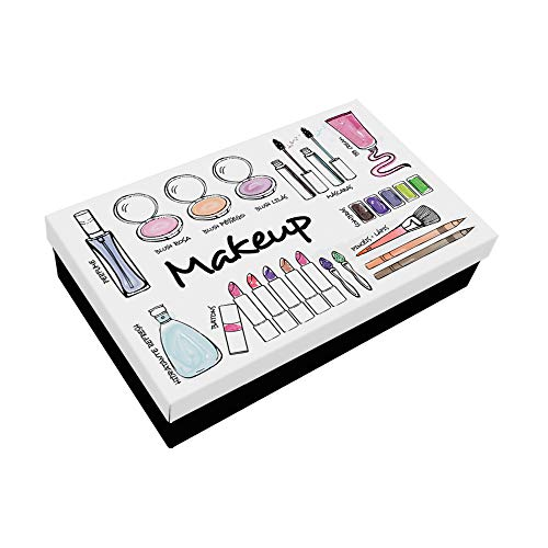 Caixa Makeup Beauty GeGuton Preto / Branco 1