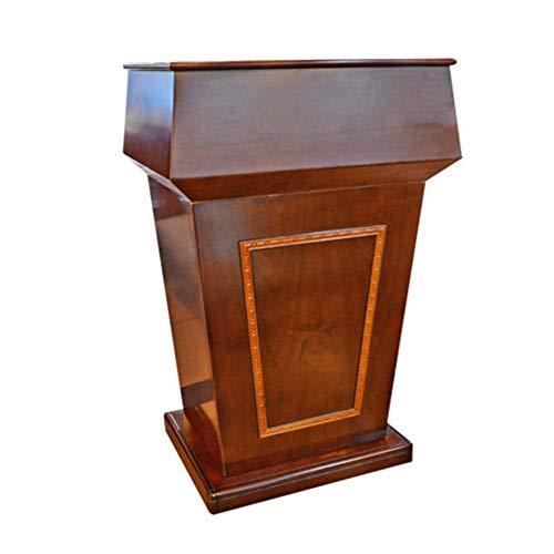 ROGF Pulte & Podien Hosting-Rezeption Präsentationspodium Tischrednerpult Podium Für Konferenzraum (Color : Brown, Size