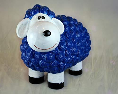 Vamundo Süßes Deko-Schaf XL für den Garten - BLAU