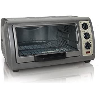 Hamilton Beach 31126 6-Slice Easy Reach Toaster Oven with Timer, Metallic