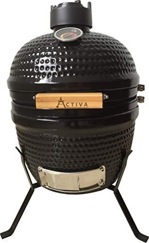 ACTIVA Keramik Grill Smoker BBQ Keramikgrill, schwarz
