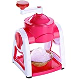 Qualimate Manual Ice Gola Slush Maker Ice Snow Maker Machine (Pink)
