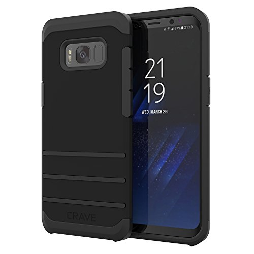 Crave Strong Guard for Samsung S8 Case, Shockproof Protection Dual Layer Case for Samsung Galaxy S8 - Black
