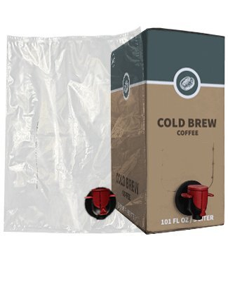 3L Cold Brew Coffee Bag-In-Box Kits [Eco-Friendly Bottle Alternative] - Easily Bottle & Store Your Cold Brew Coffee - Perfect For Coffee Shops! (6 pack of 3L Cold Brew Bags & Boxes)