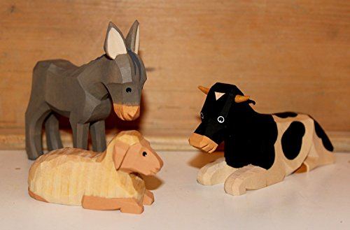 Krippenfigur SET Ochs Esel und Schaf Lotte Sievers-Hahn