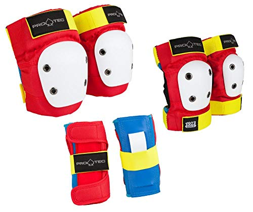 Pro-Tec Pads Street Gear Junior Lot de 3 Protections Unisexes pour Enfants, rétro, YS