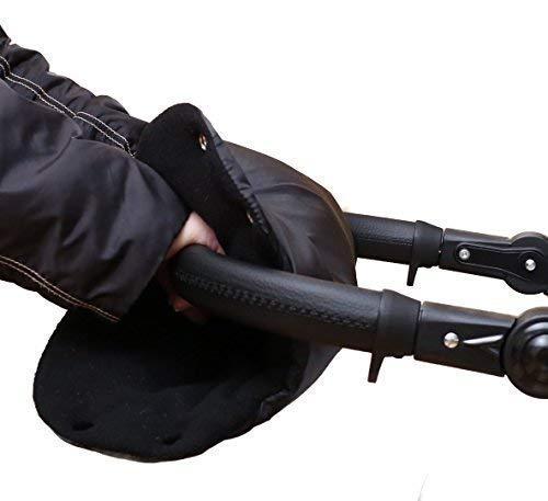 Baby-Joy Manchon Chauffant pour mains NOIR-NOIR Protection main Gants de poussette Gant pour luge - MU-02
