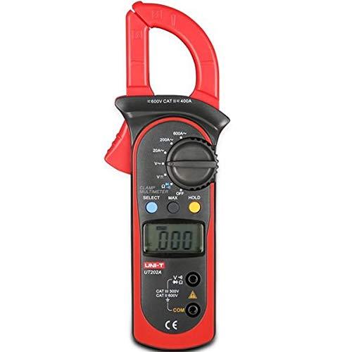 UNI-T UT202A Handheld Digital LCD DC AC Voltage Current Ohm Tester Clamp Meter Multimeter