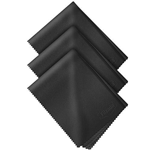 Filzada ® 3x Brillenputztuch Microfaser 20 x 20 cm - Fusselfreie Brillenputztücher In Optikerqualität - Auch Als Objektivtuch Oder Displaytuch