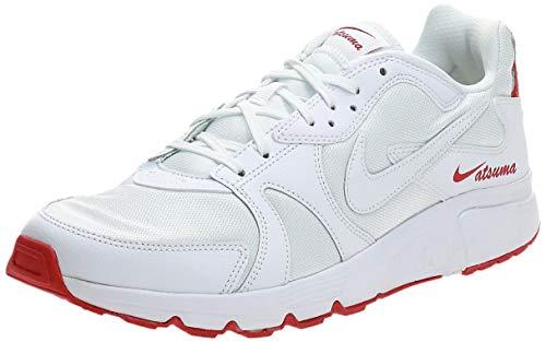 Nike Atsuma Hombre Trainers CD5461 Sneakers Zapatos (UK 10 US 11 EU 45, White University Red 102)