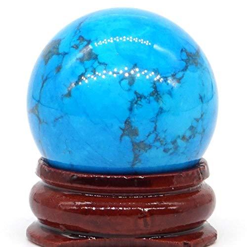 Natürliche gemischte Steinkugel Natürliche Mineralquarzkugel Handmassage Kristallkugel Heilung Feng Shui Wohnkultur Zubehör 30 mm, gefärbtes blaues Türkis