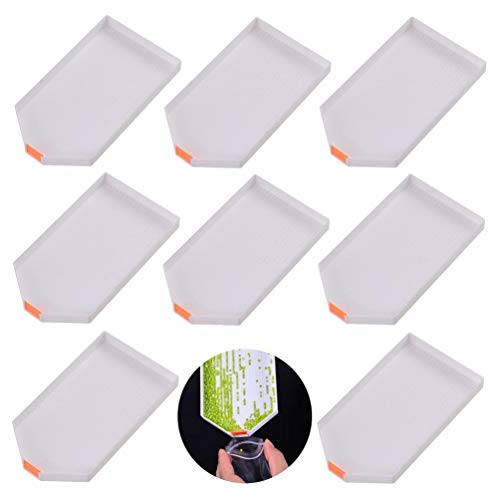 BraveWind 8 Pcs Diamond Painting Tools Plastic Tray Drill Plate Painting Accessories for DIY Art Craft