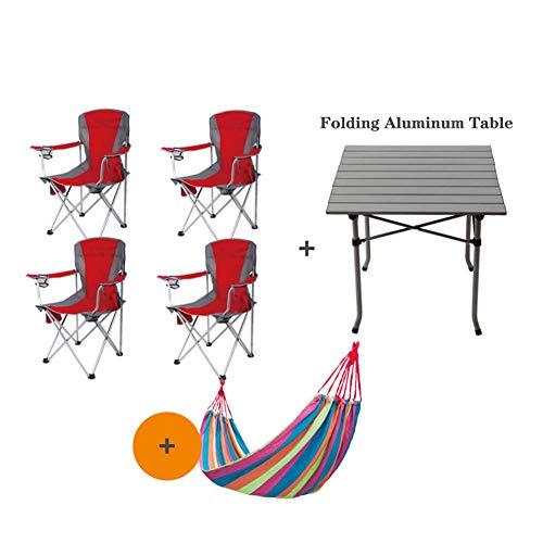 Unknow Chaise de Camping Portable chaises de Plage, avec Porte-gobelet Salon léger Patio de pêche en Plein air Support Robuste 250 LB Vert
