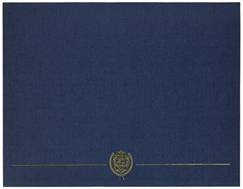 """Great Papers! Navy Classic Crest Certificate Cover, 12""""x 9.375"""", 5 Count (903115)"""