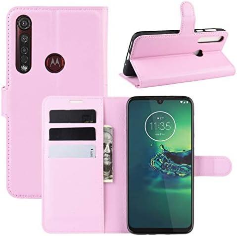 ZHOUSITONG Voor Motorola Moto G8 Plus Litchi Texture Horizontale Flip Beschermhoes Met Houder Card Slots Portemonnee ColorPink