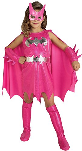Super Heroes DC -Pink Batgirl Child Med 5-7 (disfraz)