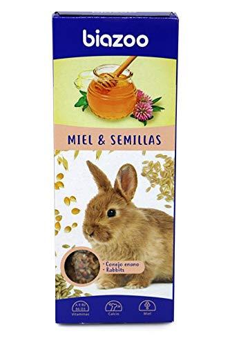 biozoo - Barritas de Miel & Semillas para Conejo - Pack 5 Unidades