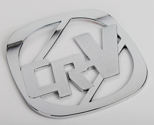 Chrome couvercle de réservoir Façade d'autoradio CR-V Couvercle Fuel Tank Cover Tuning