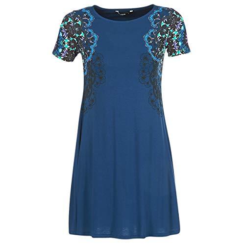 Desigual Vest Cora Vestido, Azul (Navy 5000), S para Mujer