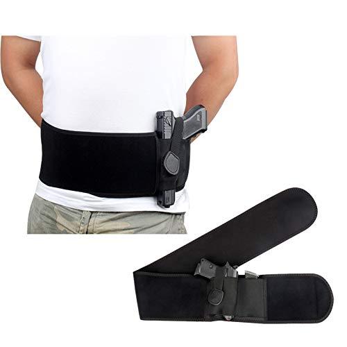 N \ A Funda para Pistola con Banda para el Vientre definitiva para Transporte Oculto | Compatible con Smith and Wesson, Shield, Ruger LCP y Pistolas similares, para Hombres y Mujeres