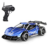 Vbepos Alloy Remote Control Car Toys for 3 4 5 6 7 8 9 Year Old Boys Girls, 2.4Ghz High Speed RC Cars for Kids & Adults, Blue
