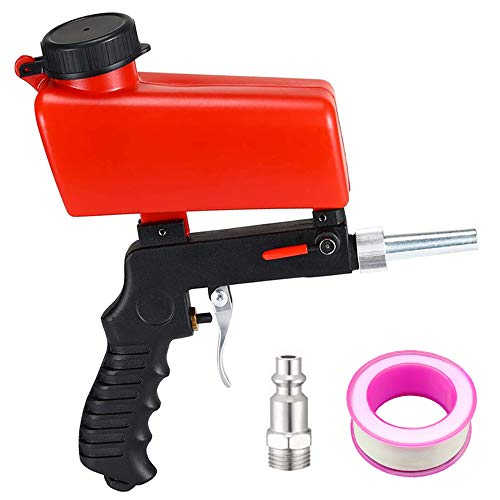 Sandblaster Sand Blaster Gun Kit - Media Sandblaster Gun, Soda Sand Blasting Spray Tool for Air Compressor, Sand Blasters Portable