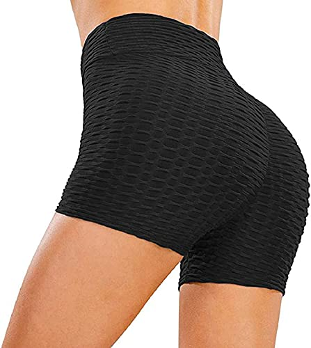 Pantalones Cortos Leggings Mujer Mallas Push Up Yoga Pantalones Deportes Fitness Mallas Leggings Alta Cintura Elásticos...