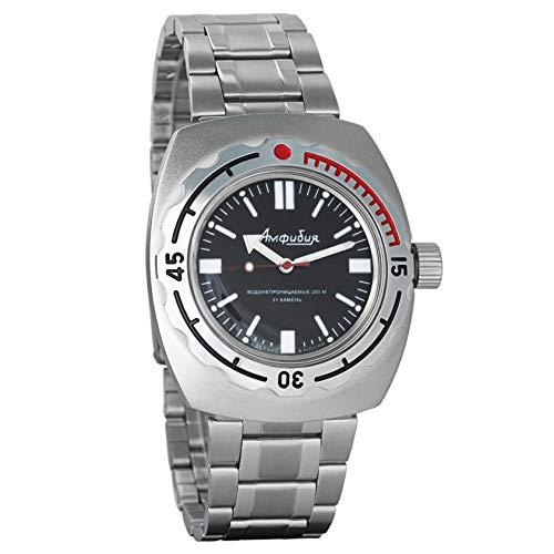 Vostok Amphibian 090916 genuino reloj de buceo militar ruso 2416B/2415 200m auto cuerda reloj de pulsera