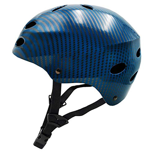 Helm SFBBAO Schutzradhelm Mountain Road Fahrradhelm Extremsport Fahrrad/Skaten/Hip-Hop Helm XL (61-64cm) Blau