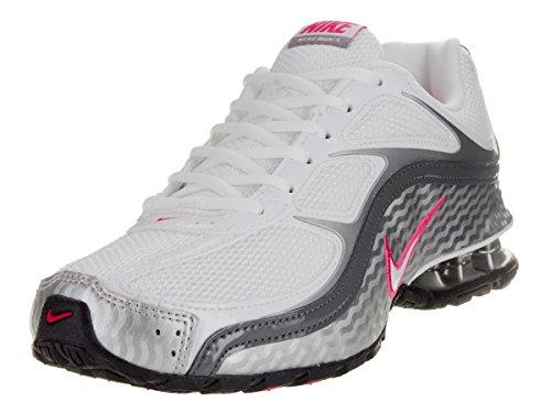 Nike Women's Reax Run 5 Running Shoes White/Metallic Silver/Dark Grey 9