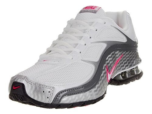 Nike Women's Reax Run 5 Running Shoes White/Metallic Silver/Dark Grey 6.5