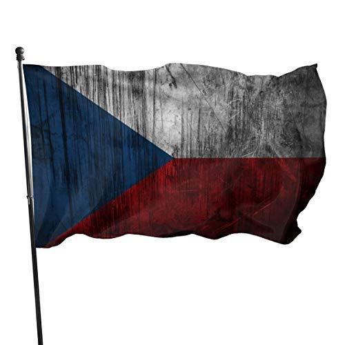 EU Czech Flag Scratch 3x5 Fuß Nylonflagge - Lebendige Farbe und UV-Beständigkeit für Innen- und Außenbereiche