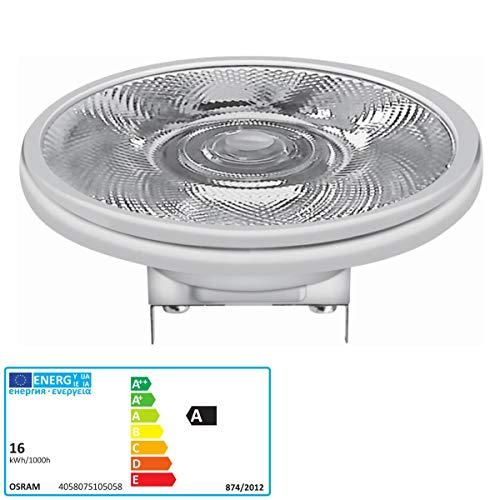 Osram Lámpara LED Reflectora , Casquillo: G53 , Warm White , 2700 K , 15 W , Reemplazo por 75 W Reflector Lamp Parathom PRO AR111 [Clase de Eficiencia Energética A]