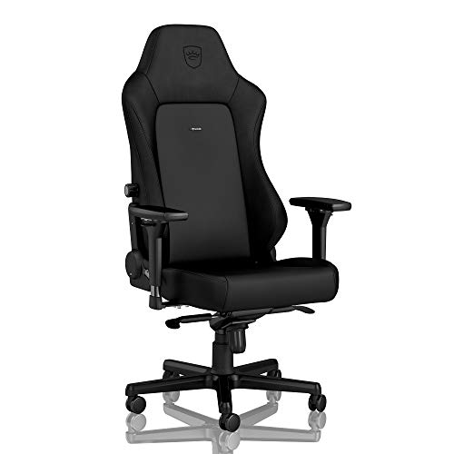 noblechairs Hero Gaming Chair - Office Chair - Desk Chair - PU Faux Leather - 330 lbs - 135° Reclinable - Lumbar Support Cushion - Black Edition black chair gaming