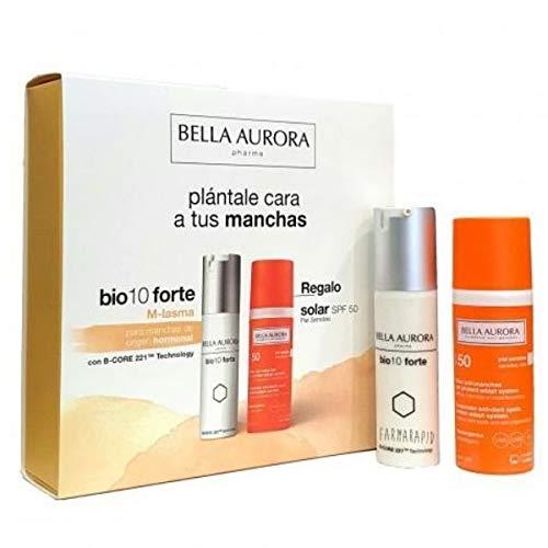 Bella Aurora Bio 10 Forte M-Lasma Tratamiento Despigmentante, 30ml+REGALO Solar Anti-Manchas SPF50, 50ml