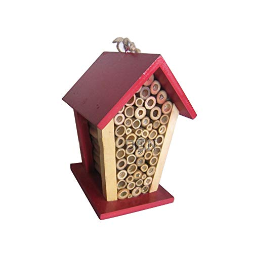 XULONG Casa de Abejas e Insectos, Bambú Natural y Madera Casa de Insectos Beneficiario Insecto Hábitat Jardín Decoración al Aire Libre Comedero para pájaros