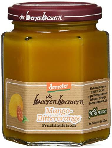 Die Beerenbauern Bio Konfitüre, Mango-Bitterorange, 3er Pack (3 x 200 g)